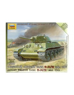 Carro medio T-34/76 1940 - escala 1/100