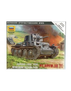 Panzer 38 (T) Light Tank - 1/100 scale
