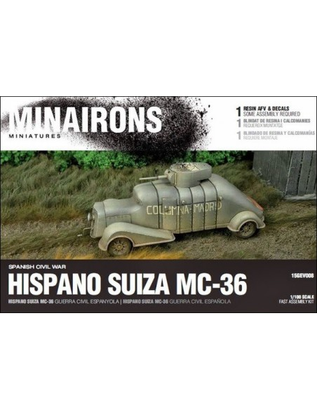 1/100 Hispano Suiza MC-36 - Boxed set
