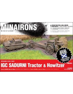 1/72 Sadurní tractor & howitzer - Boxed kit