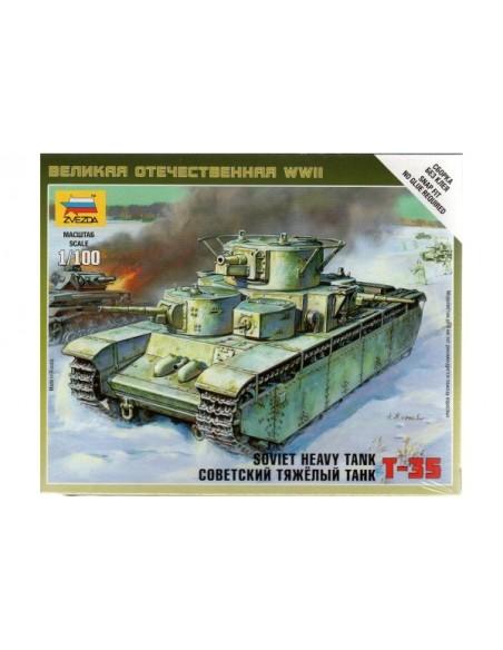1/100 T-35 Tank - Boxed kit
