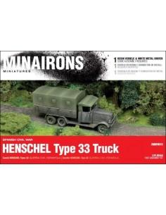 1/72 camión Henschel Tipo 33 - Caja de 1