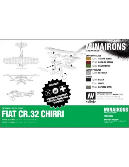 1/144 Caza Fiat CR.32 - Caja de 1