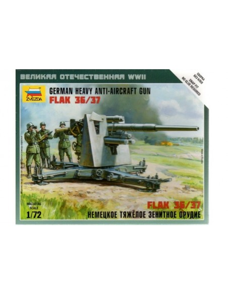 1/72 Antiaéreo alemán Flak 36/37