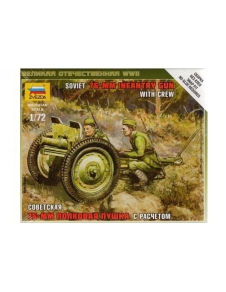 1/72 Cañón de acompañamiento soviético de 76mm