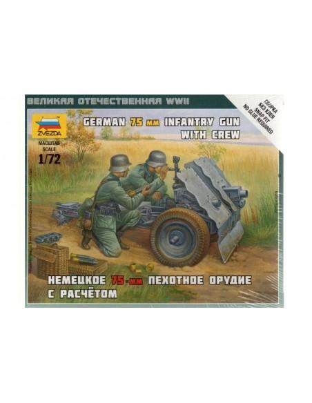 1/72 Cañón de acompañamiento alemán de 75mm