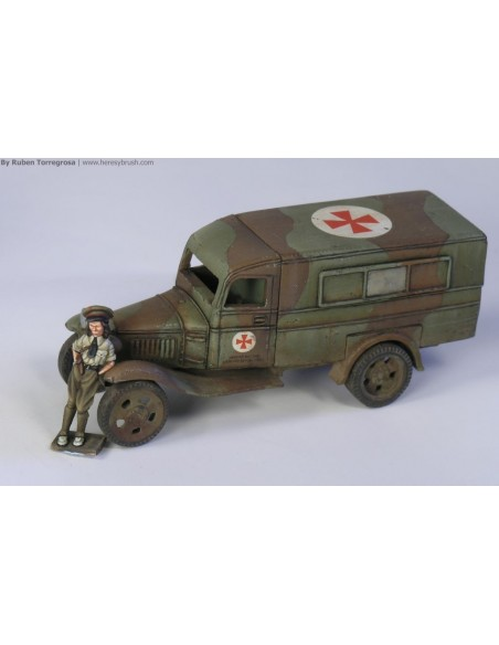 1/72 Ford AA Bookmobile - Boxed kit