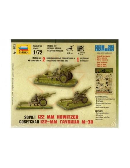 1/72 Obús soviético de 122 mm