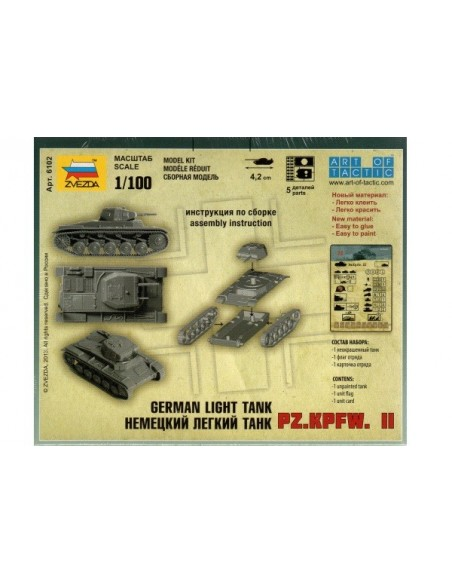 1/100 Panzer II C - Capsa d'1