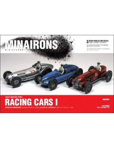 1/72 Autos de competición - Caja de 3