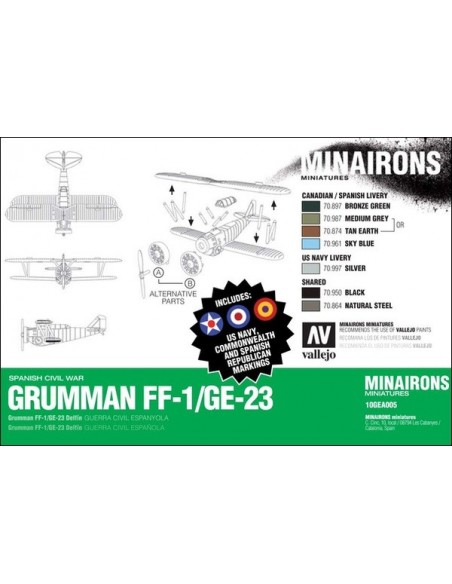 1/144 Grumman FF1/G23 Fighter - Boxed kit
