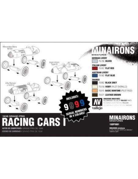 1/100 Racing Cars - Boxed set