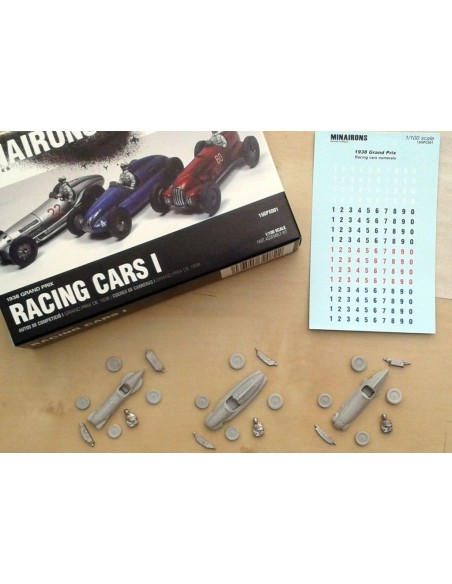 1/100 Racing Cars - Boxed set