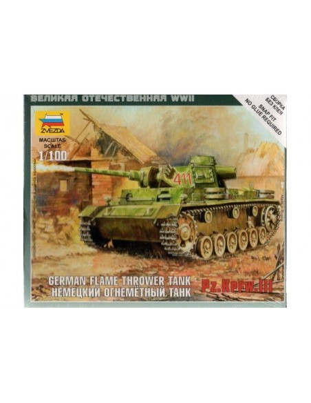 1/100 Panzer III Flamehtrower - Boxed kit