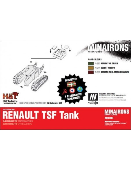 1/72 Renault TSF tank - Boxed kit