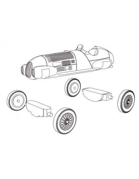 1/72 Alfa Romeo 12c/312 - Model sòlt