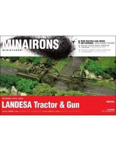 1/72 Tractor Landesa i canó - Capsa d'1