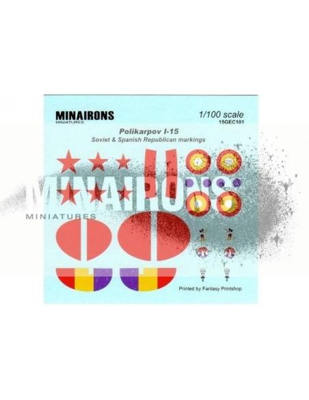 1/100 Distintivos del Polikarpov I-15
