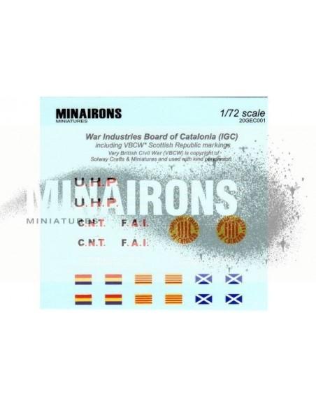1/72 Distintius de blindats catalans