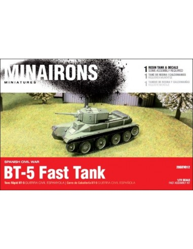 1/72 BT-5 fast tank - Boxed kit