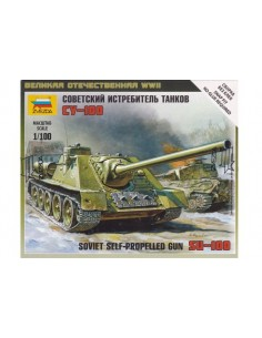 1/100 SU-100 self-propelled gun - Boxed kit