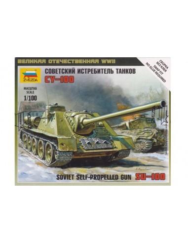 1/100 Cañón autopropulsado SU-100 - Caja de 1