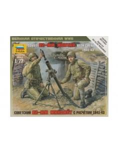 1/72 Mortero soviético de 82mm y servidores
