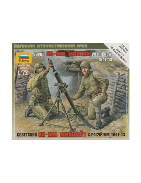 1/72 Morter soviètic de 82mm i servidors