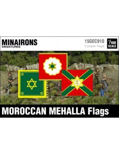 1/100 Moroccan Mehalla flags
