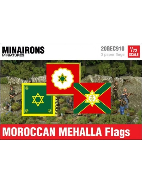 1/72 Moroccan Mehalla flags