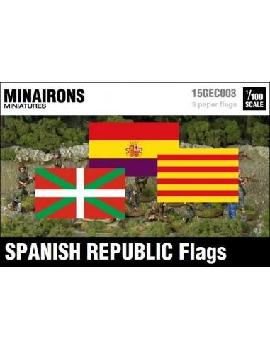 1/100 Spanish Republic Institutional flags