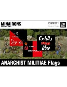 1/100 Banderes de milícies anarquistes