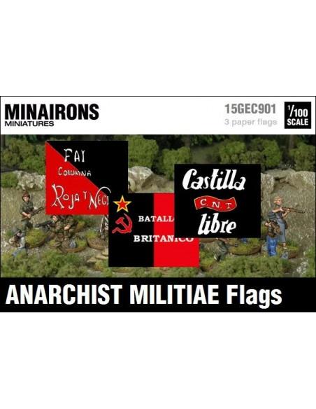 1/100 Banderas de milicias anarquistas