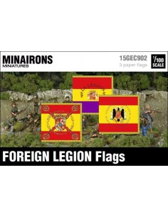 1/100 Spanish Foreign Legion flags
