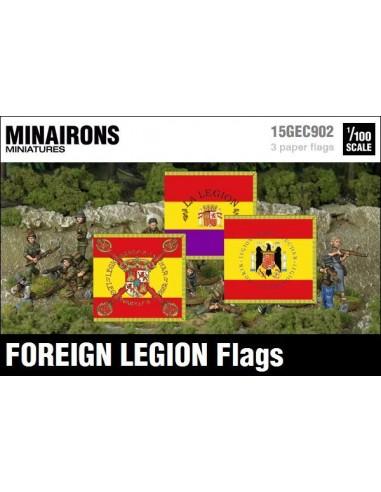 1/100 Spanish Foreign Legion flags