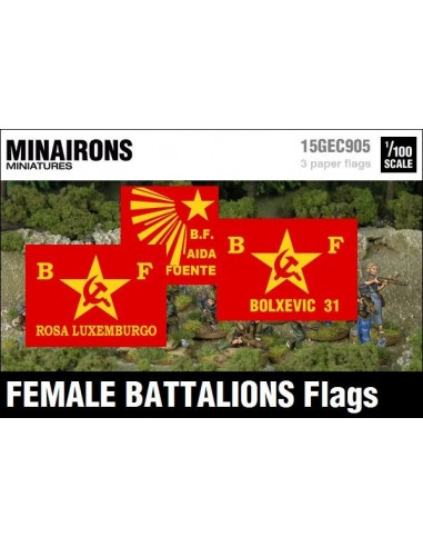 1/100 Banderes de batallons femenins