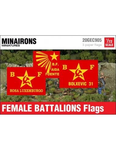 1/72 Female Battalions flags