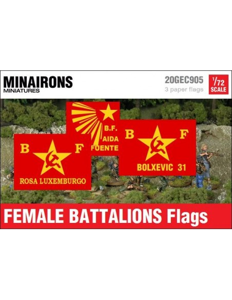 1/72 Banderes de batallons femenins