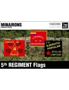 1/100 Banderas del 5º Regimiento