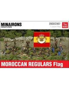 1/72 Moroccan Regulars flag
