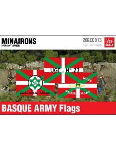 1/72 Basque Army Flags
