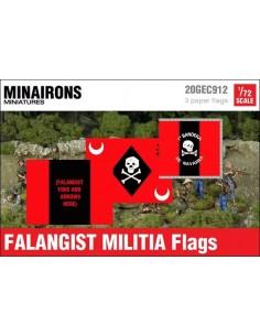 1/72 Banderas de milicias falangistas