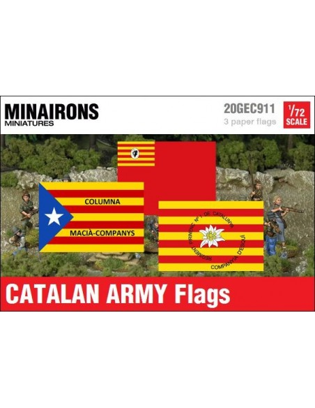 1/72 Catalan Army Flags