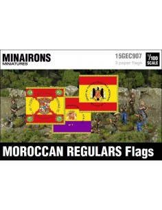 1/100 Banderas de Regulares de Marruecos