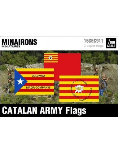 1/100 Banderas del ejército catalán