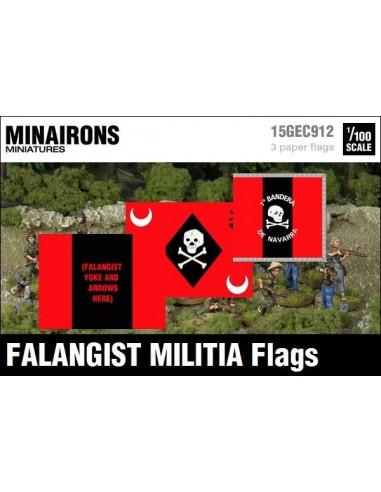 1/100 Banderes de milícies falangistes