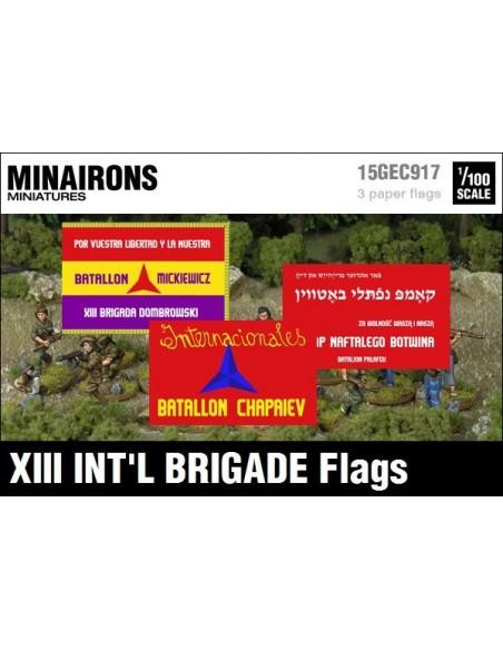 1/100 Banderes de la XIII Brigada Internacional