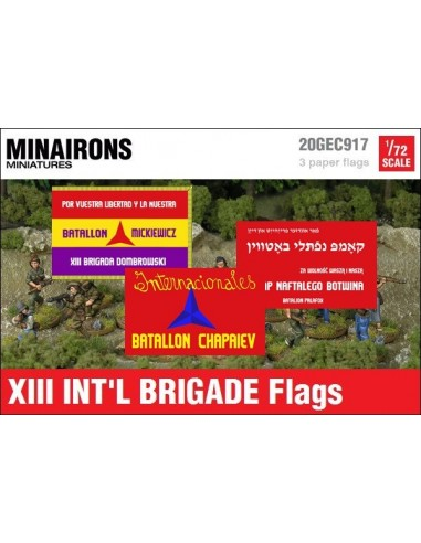 1/72 XIII International Brigade Flags