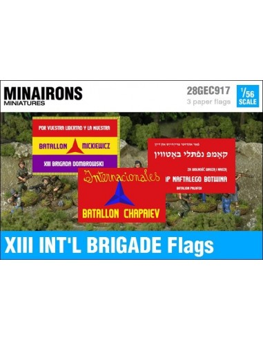 1/56 XIII International Brigade Flags