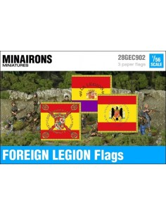 1/56 Spanish Foreign Legion flags